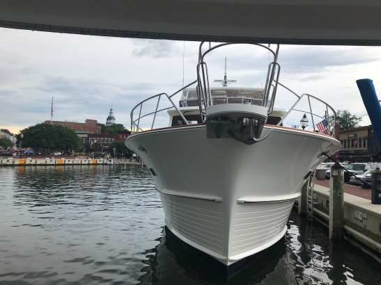 Behind us at the dock