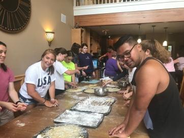 Pasta Making family reunion