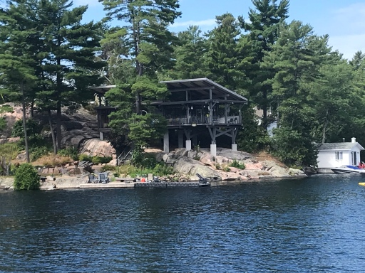 house built on rocks