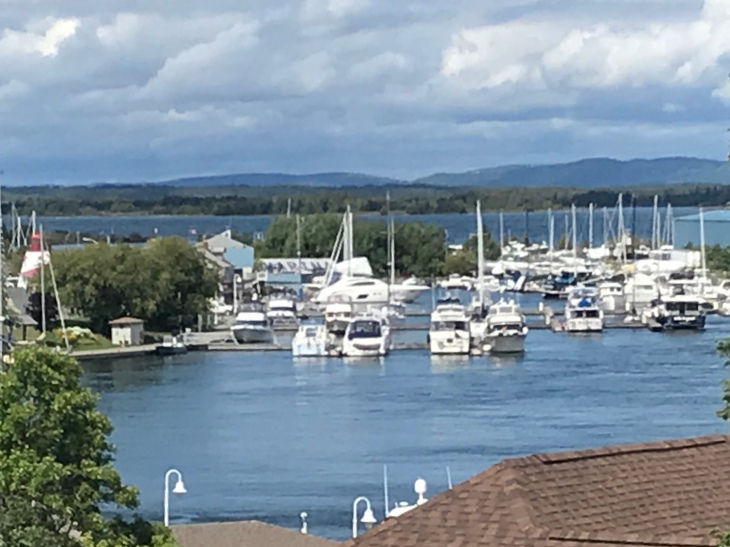 Little Current harbor deceptively quiet