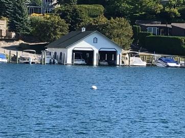 boat house on round Lake