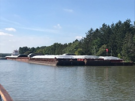 enormous barge