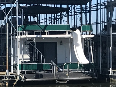 House Boat with slide